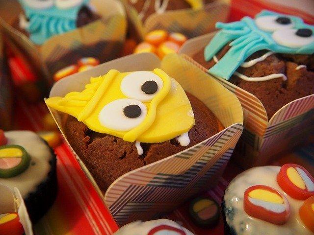 zdobené muffiny